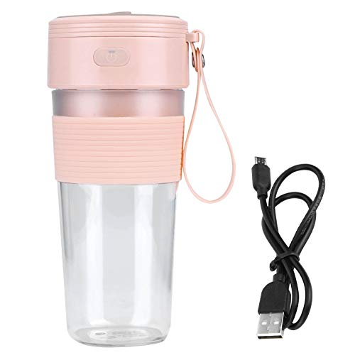 Demeras Licuadora, no tóxico Mini Juicer USB Exprimidor Recargable 300ml Mini y Oficina Portátil (rosa)