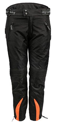 Bangla Kinder Motorradhose Textil 2152 Schwarz orange 140