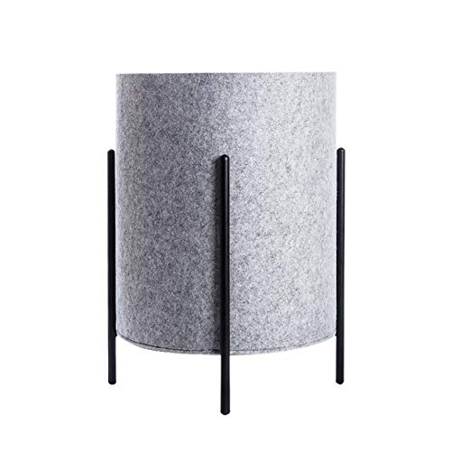 HSGei Wäschekorb mit Griff Leinen Wäschekorb Einbau-Liner mit abnehmbarem und Nützliches Upgraded Folding Wäschekorb Spielzeug-Speicher-Grid-Muster,Grau