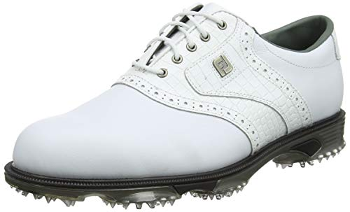 FootJoy DryJoys Tour, Zapatillas de Golf para Hombre, Blanco (Blanco 53700), 43 EU