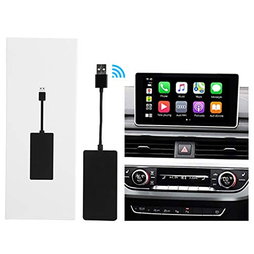 Inalámbrico Wireless CarPlay Dongle Compatible con Radio de Coche con Android (Instale la aplicación Autokit en Android Car Radio), Soporte iOS13, agregue Función Carplay/Android Auto/navegación