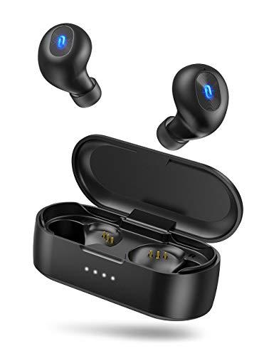 TaoTronics ワイヤレス イヤホン Bluetooth 5.0 【MCSync左右同時伝送 ホールスイッチ IPX7防水 ライトニングペアリング】 AAC対応 片耳対応 Siri対応 HIFI高音質 ハンズフリー通話 20時間再生 SoundLiberty 77