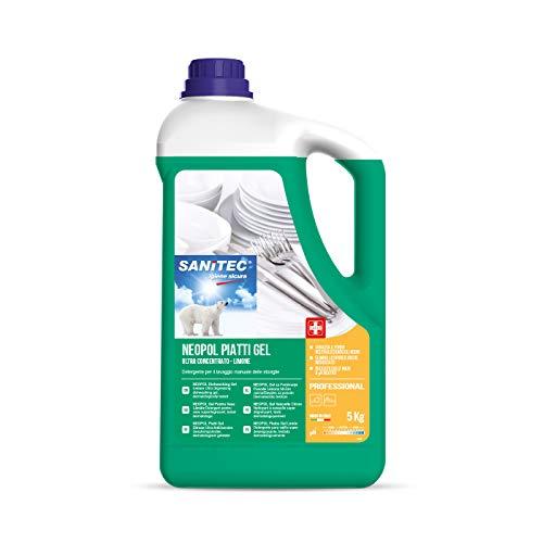 Neopol piatti gel, detergente ultraconcentrato per il lavaggio manuale delle stoviglie, 5 kg - Limone