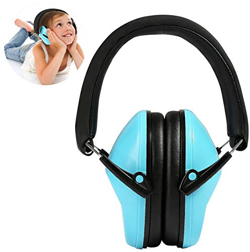 Orejeras para niños, Ballery Orejera Protección Auditiva Auriculares Defensores Cancelación de Ruido para Disparo, Aprendizaje, Dormir, Concierto para Niños (Azul)