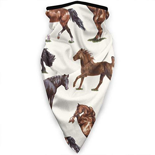 Mathillda Mooie paard patroon gezichtsmasker hals Gamas, bandana, sjaal, bivakmuts, multifunctionele hoofddeksel