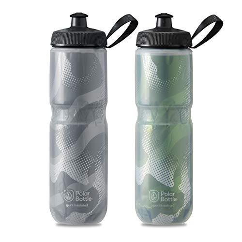 Polar Bottle - Sport Insulated Contender 2-Pack - 24 oz, Charcoal & Olive, Black/Olive Contender - 2 Pack