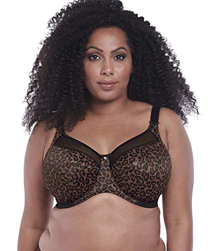 Goddess Women's Plus-Size Kayla Signature Print Full-Coverage Underwire Bra Bra, Dark Leopard, 42K