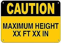 個人的な場所の標識注意最大高さXx Ft Xxサインイン-Style2137ユニークなギフトギフトメタルレトロな壁の装飾ユニークなアートポスター