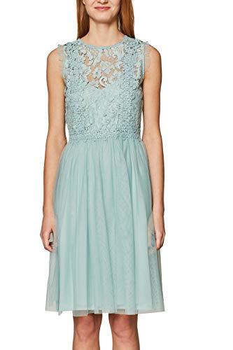 ESPRIT Collection Damen 029EO1E011 Kleid, Grün (Light Aqua Green 390), Medium (Herstellergröße: M)