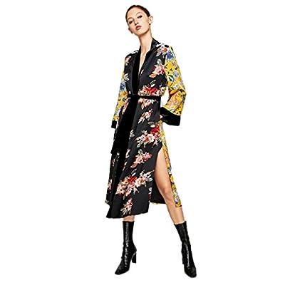 Pocciol Women Bohemia Floral Tassel Long Kimono Oversized Shawl Tops Loose Cardigan