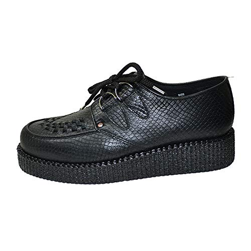STEELGROUND Zapatos Creepers Buggies Unisex de Piel de Serpiente (38 EU)