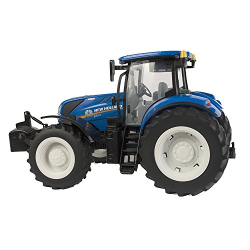 Tomy Britains New Holland, T7.270 Kindertractor met geluid en licht, met schepje om op te steken, tractor met frontgewicht, voor kinderen vanaf 3 jaar