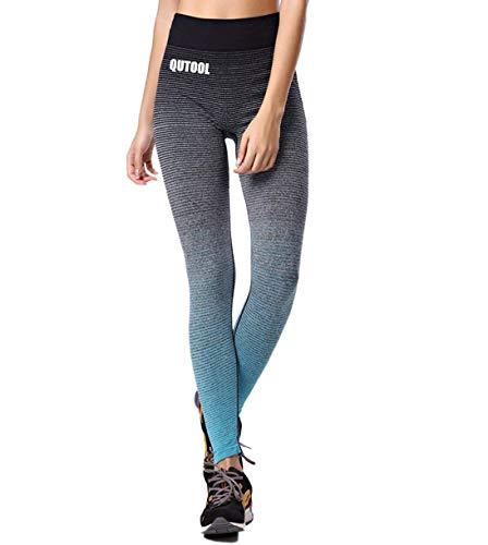 QUTOOL Damen Sport Hose Yoga Leggings Strumpfhosen Workout Hose Running Hose