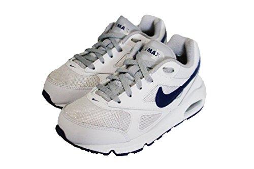 Nike Air Max IVO (PS), Chaussures de Course garçon, Blanco (White/Deep Royal Blue-Wolf Grey), 31 1/2