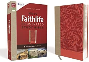 NKJV, Faithlife Illustrated Study Bible, Leathersoft, Pink, Red Letter Edition: Biblical Insights You Can See