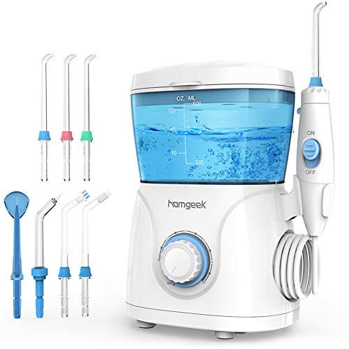 Homgeek Upgrade Water Flosser,Oral Irrigator,Water Pick,