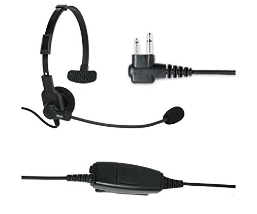 Find Discount ARC B43005 Noise Cancelling Boom Microphone Headset for Motorola 2-Pin Handheld Two Wa...