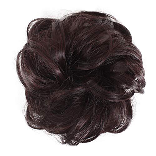 kangOnline Hairpieces Élégant, Chouchous Élégant, Naturellement Bouclier Darkblond Naturellement Désordonné, Chignon Chouchous Bun, Extension De Cheveux