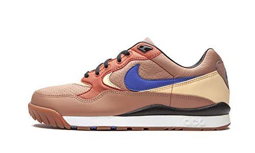 Nike Air Wildwood ACG Echtleder-Sneaker Trendige Damen Turnschuhe mit Air-Sohle Freizeit-Schuhe Trend-Schuhe Braun, Größe:38