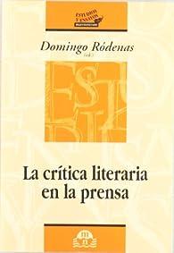 CRITICA LITERARIA EN LA PRENSA par