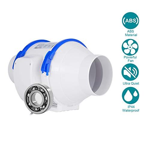 Abluftventilator,HG Power Rohrventilator Mischdurchfluss Rohrlüfter mit Starker Abluft System für Büro, Bad, Halle, Hydroponic Zimmer (⌀100 mm) - MEHRWEG