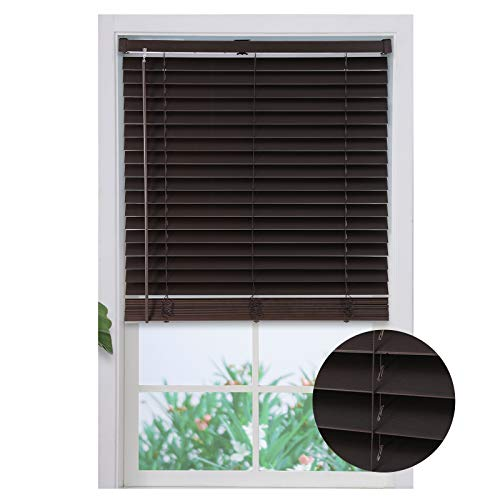 Relektevt Cordless Blinds for Window, Faux Wood Blinds Inside Mount, Shades for Windows, Shade for Living Room, Bedroom, Kitchen 36 x 64 x 3 inches