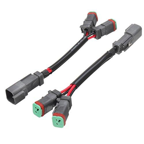 Tutoy 2pcs Y-Shape Dual Outputs Deutsch DT DTC adaptateurs connecteurs diviseurs pour Brouillard LED