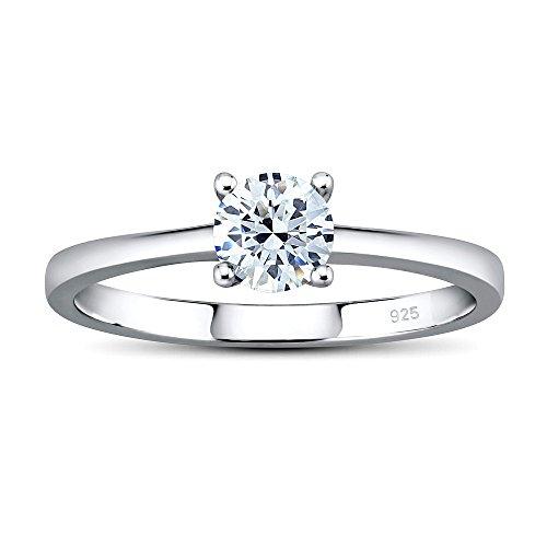 SILVEGO Verlobungsring aus 925 Sterling Silber MADISON mit Swarovski® Zirconia