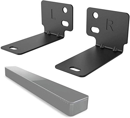 WALI Bose Sound Touch 300, Soundbar 500 and Soundbar 700 Sound Bar Speaker Wall Mount Bracket Holder Stands (BSM002), Black
