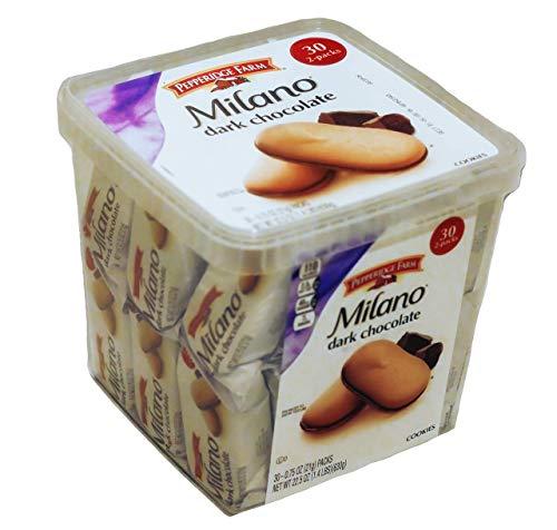 Pepperidge Farm, Milano, Cookies, Dark Chocolate, 22.5 oz, Multi-pack, Tub, 2-packs, Total 30-count