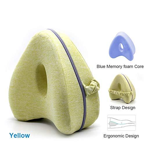 Kwaliteitsmerk Memory Foam Kniekussen met elastische band, ergonomisch ontworpen, orthopedisch kniekussen voor rugpijn, beenpijn, heup, zwangerschap, knie