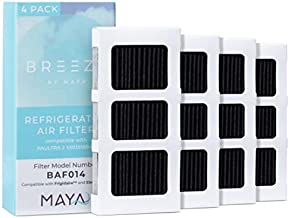 Breeze by MAYA Paultra2 Frigidaire Refrigerator Air Filter Replacement, Compatible with Model Numbers: Pureair Ultra 2, Pure Air Ultra 2, Pureair Ultra ii, 242047805, 5303918847, EAP12364179, 4 Pack