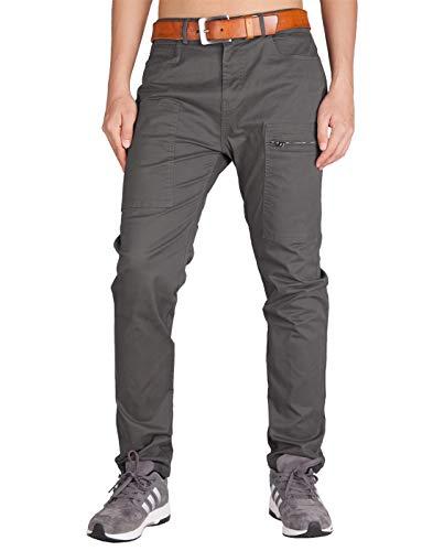 ITALY MORN Chinos Cargo Pantalones de Trabajo de Hombre Largos Casual Pants 40 Gris Oscuro