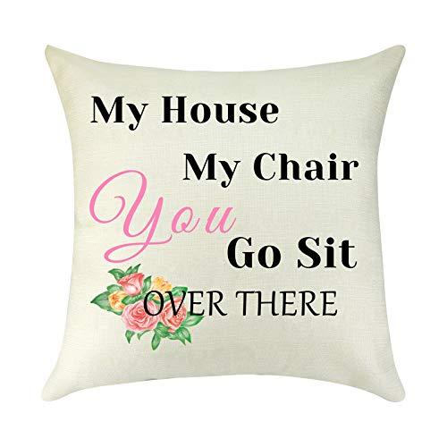 Fundas de almohada divertidas para el día del padre, regalo de pareja, cumpleaños, para mujeres, hombres, funda de cojín decorativa para dormitorio, sofá de 45,7 x 45,7 cm
