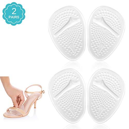 Doact Ballenpolster, Silikon Vorfuß Einlegesohlen (4 Stück) - Soforthilfe bei Vorfuß für die Frauen, Fit zu tragen in High Heels(35-40)