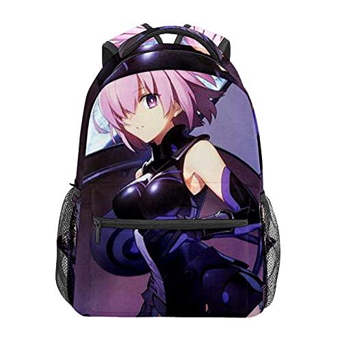 Fate Grand Order OrderMochila de animación japonesa para portátil bolsa de viaje duradera mochila impermeable para estudiantes; mochila moderna