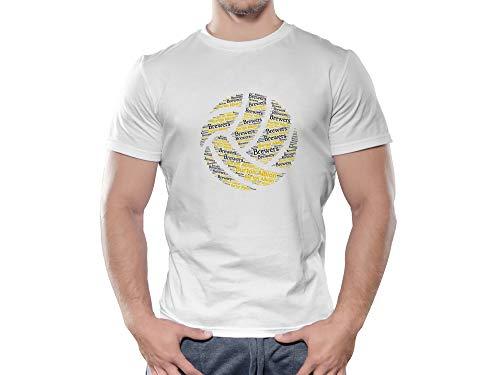 Burton Albion FC Novelty Football Ball T Shirt, (Age 9-11)