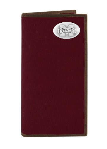 NCAA Mississippi State Bulldogs Nylon Long Secretary Concho Wallet, Maroon