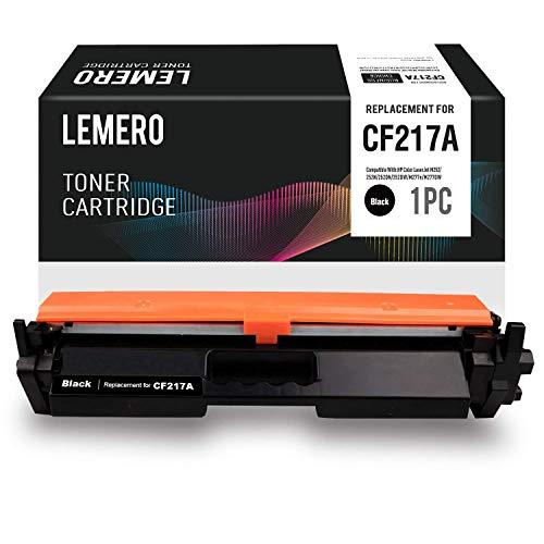 Lemero CF217A 17A Cartucho de Toner [con Chip] Compatible para HP Laserjet Pro M102A M102W HP Laserjet Pro MFP M130a M130nw M130fn M130fw Impresora,Negro