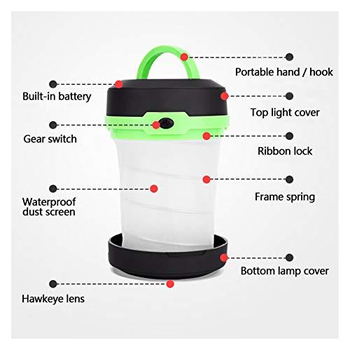 Luz del colgante al aire libre LED multifuncional plegables telescópicas de luz de camping al aire libre de la linterna Mini Carpa de luz de emergencia portátil de bolsillo linterna AA para la decorac