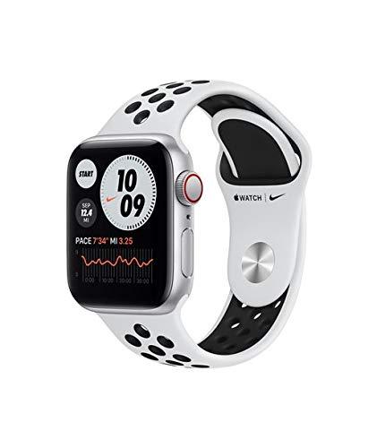 Apple Watch Se 40Mm GPS Cellular Nike Caja Aluminio con Correa Platino Y Negra Sport Band - Myyw2Ty/