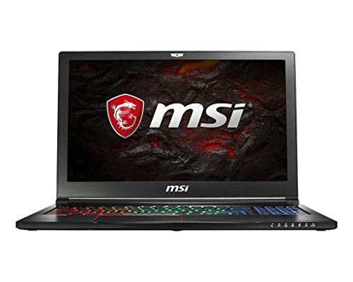 MSI NB GS63VR 7RG-006DE Stealth Pro (39,6 cm/15,6 Zoll/120Hz) Gaming-Laptop (Intel Core i7-7700HQ, 16GB RAM, 256 GB PCIe SSD + 2 TB HDD, Nvidia GeForce GTX 1070, Windows 10 Home) schwarz GS63