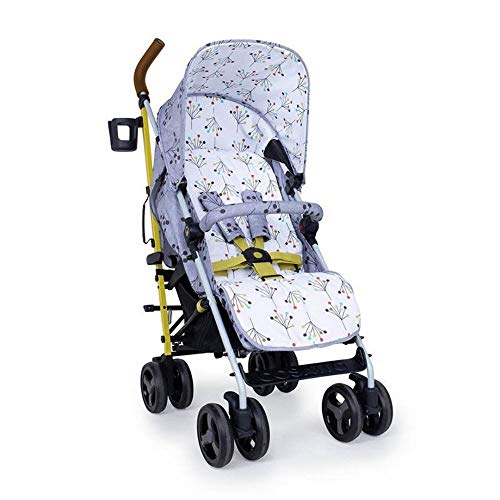 Cosatto Supa 3 Pushchair – Lightweight Stroller from Birth to 25kg - Compact Fold, Shopping Basket, Footmuff (Hedgerow)