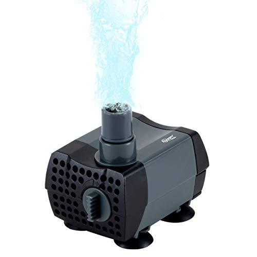 Hygger 80 GPH Mini Fountain Pump Adjustable Submersible Water Pump with Adaptor for Fish Tank, Fountain, Bird Bath