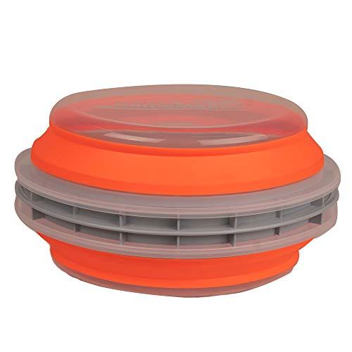 CanCooker Batter Bowl XL Chemical-Free and Dishwasher/Microwave-Safe Collapsible Mess-Free Food Preparation Batter/Breading Cooking Bowl, Orange