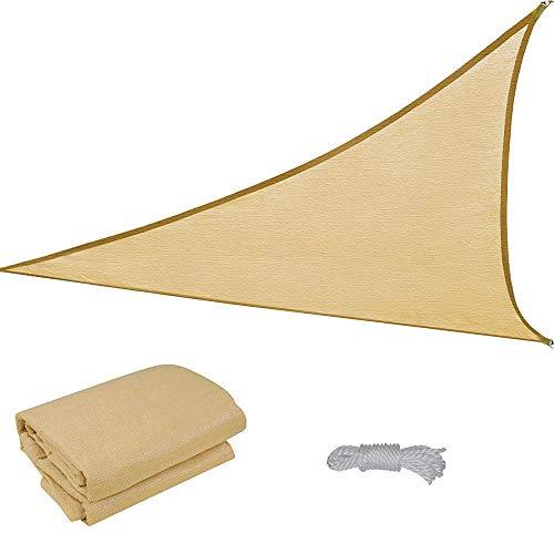 16.5' Triangle Sun Shade Sail Patio Deck Beach Garden Yard Outdoor Canopy Cover Uv Blocking (Desert Sand)