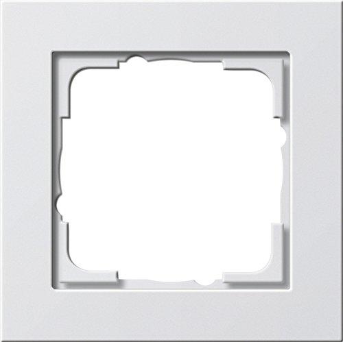 GIRA Serie Standard 55 - reinweiß glänzend (021129) Rahmen 1f reinweiß E2