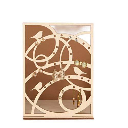 liquan Handgemachte Holz Halskette Armband Ring Ohrring Halter St?nder Baum Vogel Form Organizer Display Stand