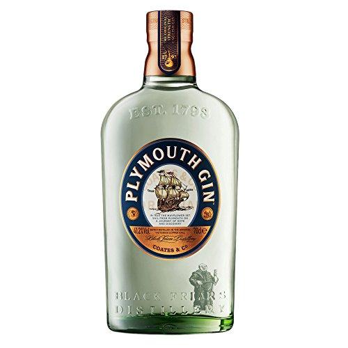 Plymouth Original Strength Dry Gin – Edler und hochwertiger Premium-Wacholderschnaps – Nach Dry Gin-Art hergestellt – 1 x 0,7 l