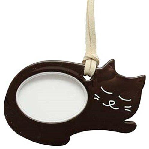 Lente(レンテ)PR-014-2・ペンダントルーペ 寝ニャン かわいい猫型ルーペ 母の日・敬老の日・お誕生日などのおしゃれなプレゼントにも! (ネコブラウン)